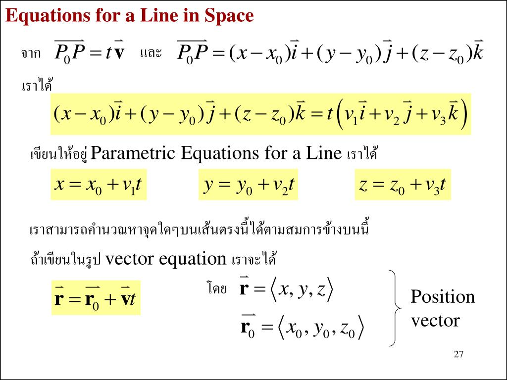 Equations for a Line in Space