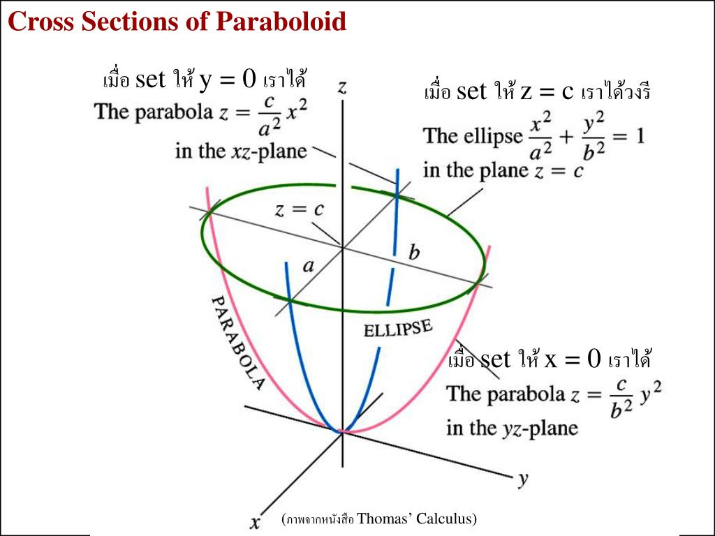 Cross Sections of Paraboloid