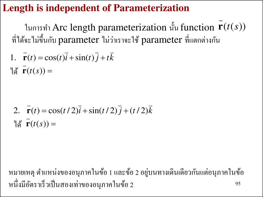 Length is independent of Parameterization