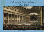 calling the estates general may 1789