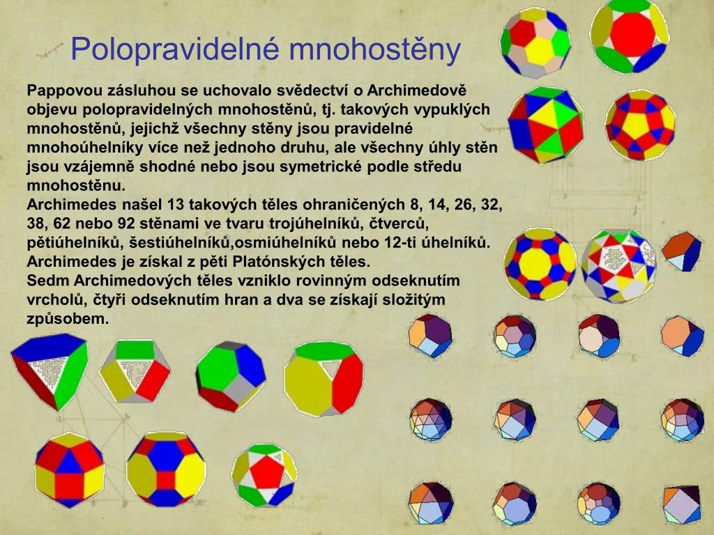 Polopravidelné mnohostěny
