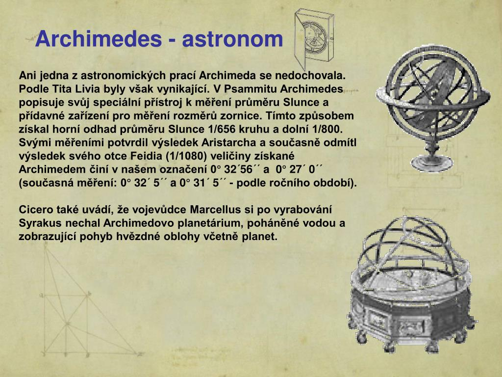 Archimedes - astronom