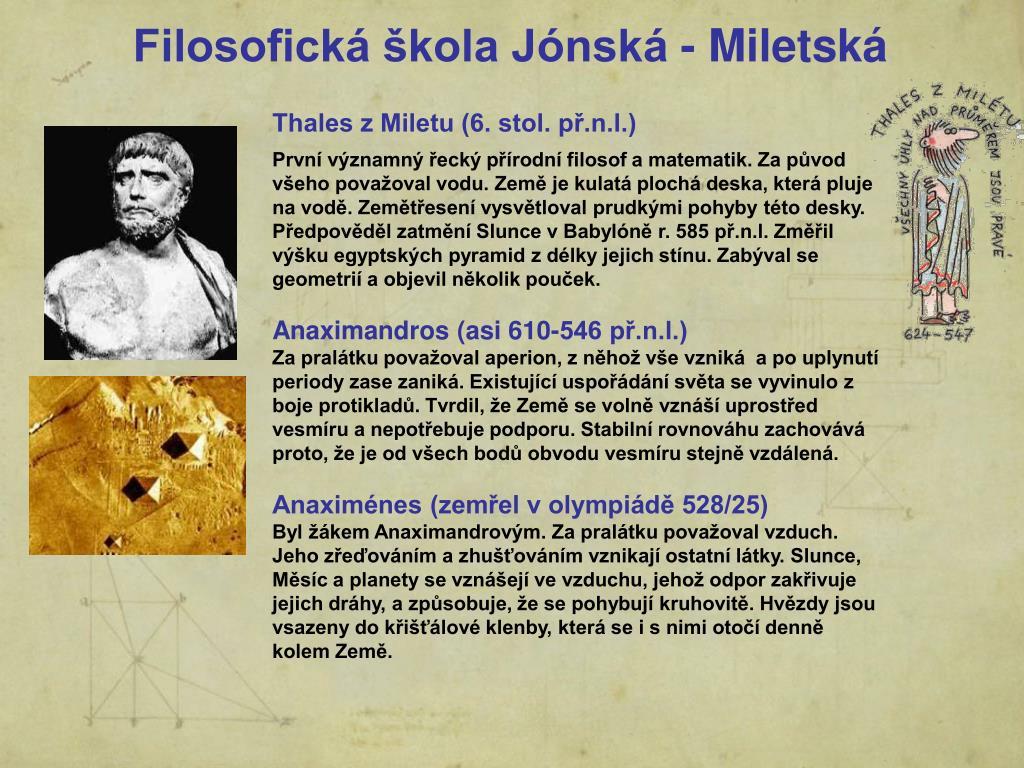 Filosofická škola Jónská - Miletská
