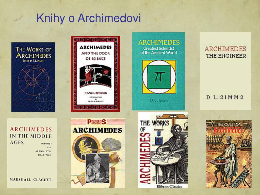 Knihy o Archimedovi