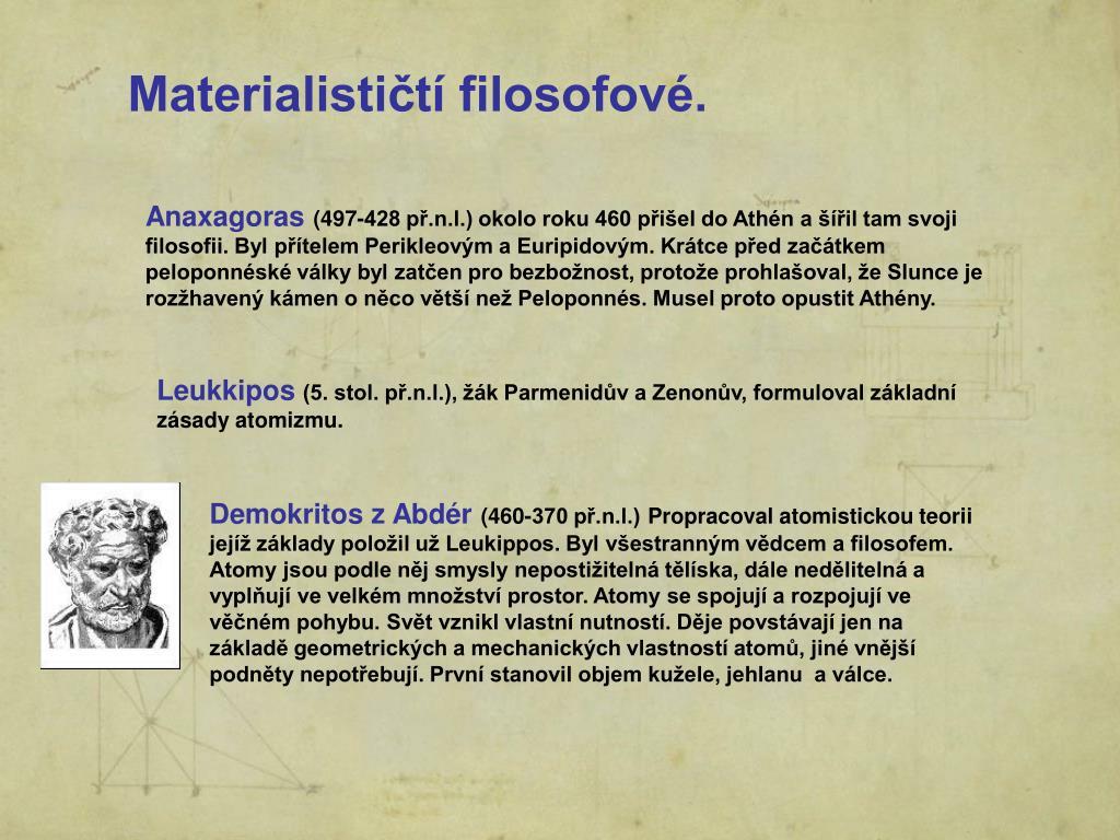 Materialističtí filosofové.