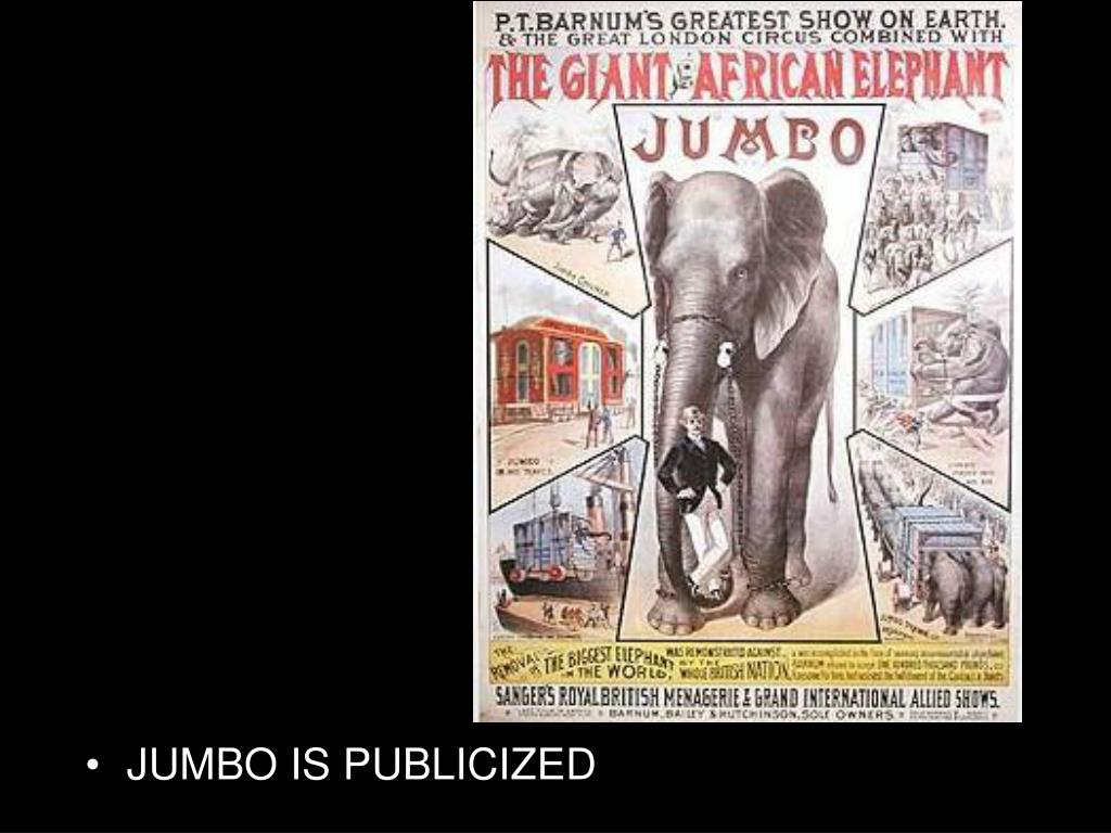 JUMBO IS PUBLICIZED