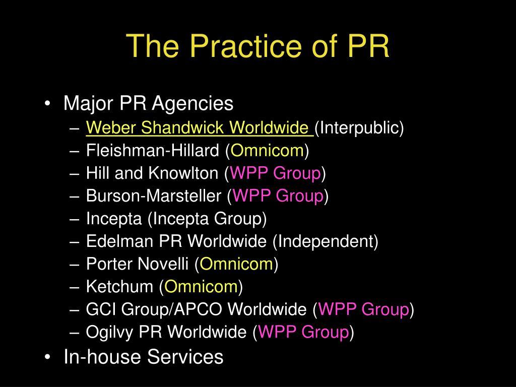 The Practice of PR