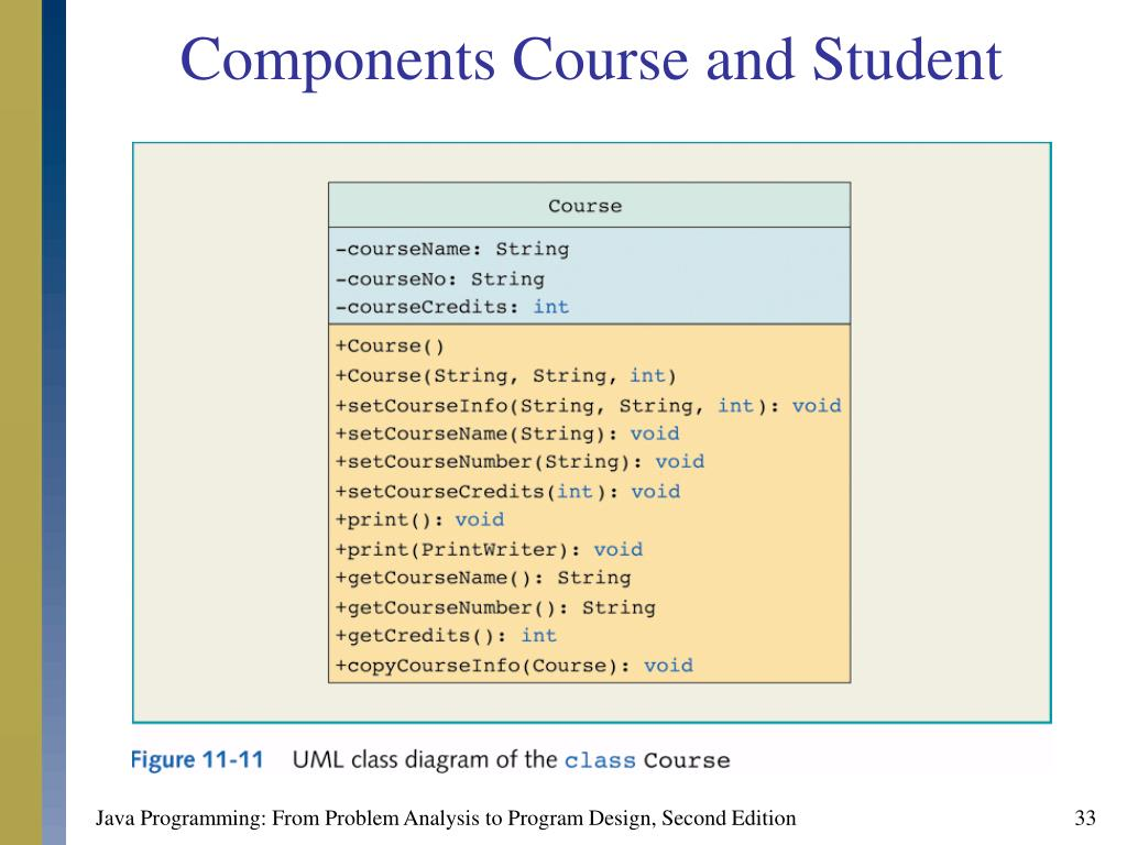 Components Course and Student
