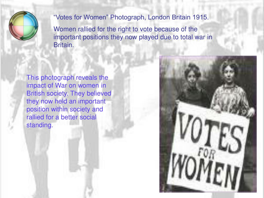 """""""Votes for Women"""" Photograph, London Britain 1915."""