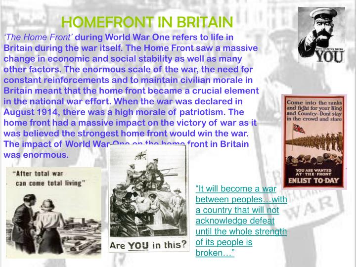 HOMEFRONT IN BRITAIN