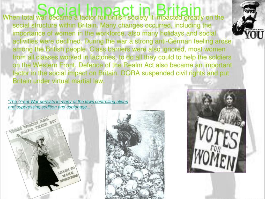 Social Impact in Britain