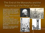 the end of the monarchy and the beginning of the reign of terror