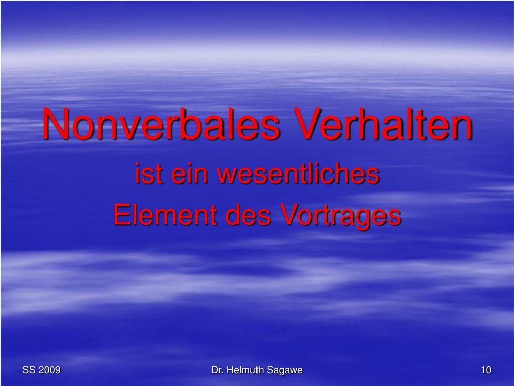 Nonverbales Verhalten
