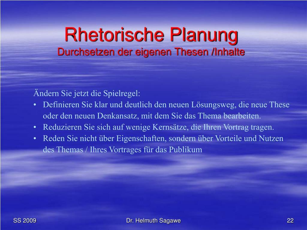 Rhetorische Planung