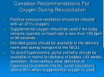 canadian recommendations for oxygen during resuscitation