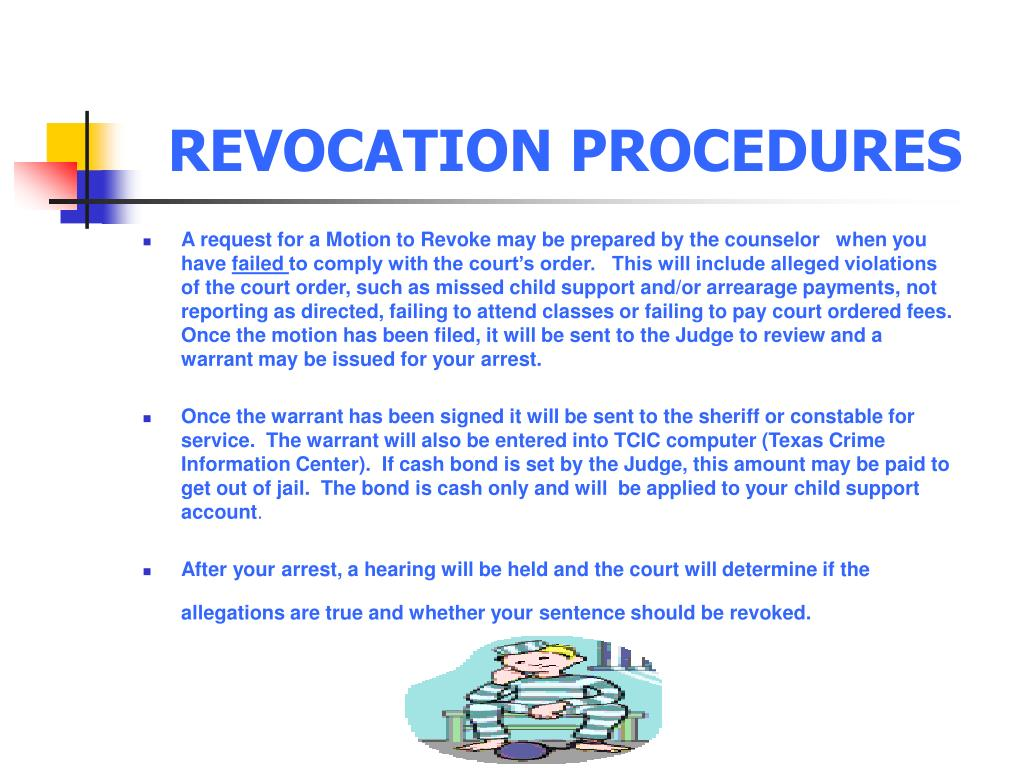 REVOCATION PROCEDURES