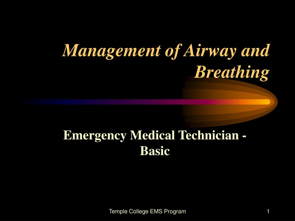 management of airway and breathing l.