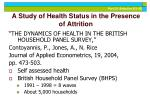 a study of health status in the presence of attrition