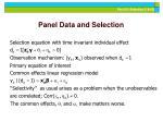 panel data and selection