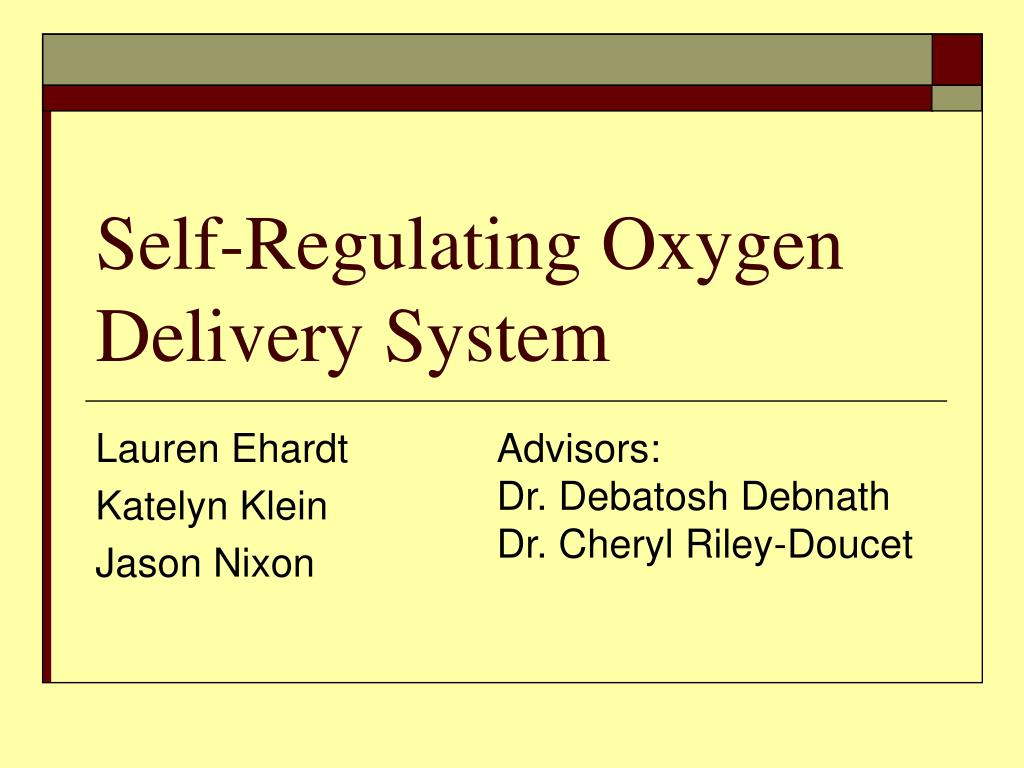 self regulating oxygen delivery system l.