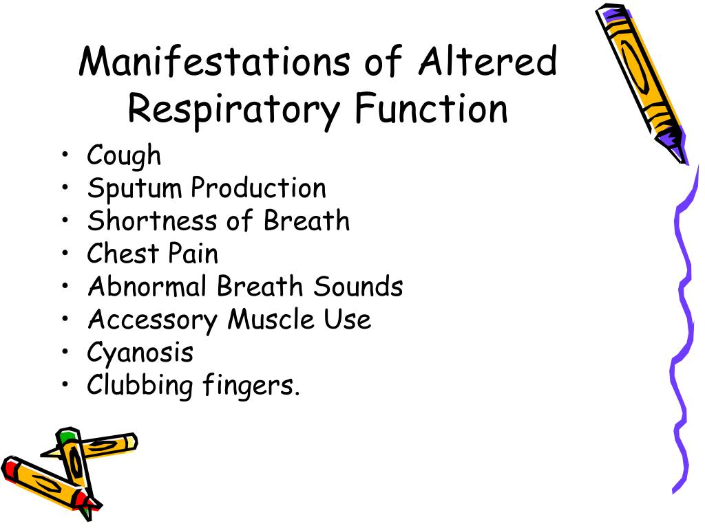 Manifestations of Altered Respiratory Function