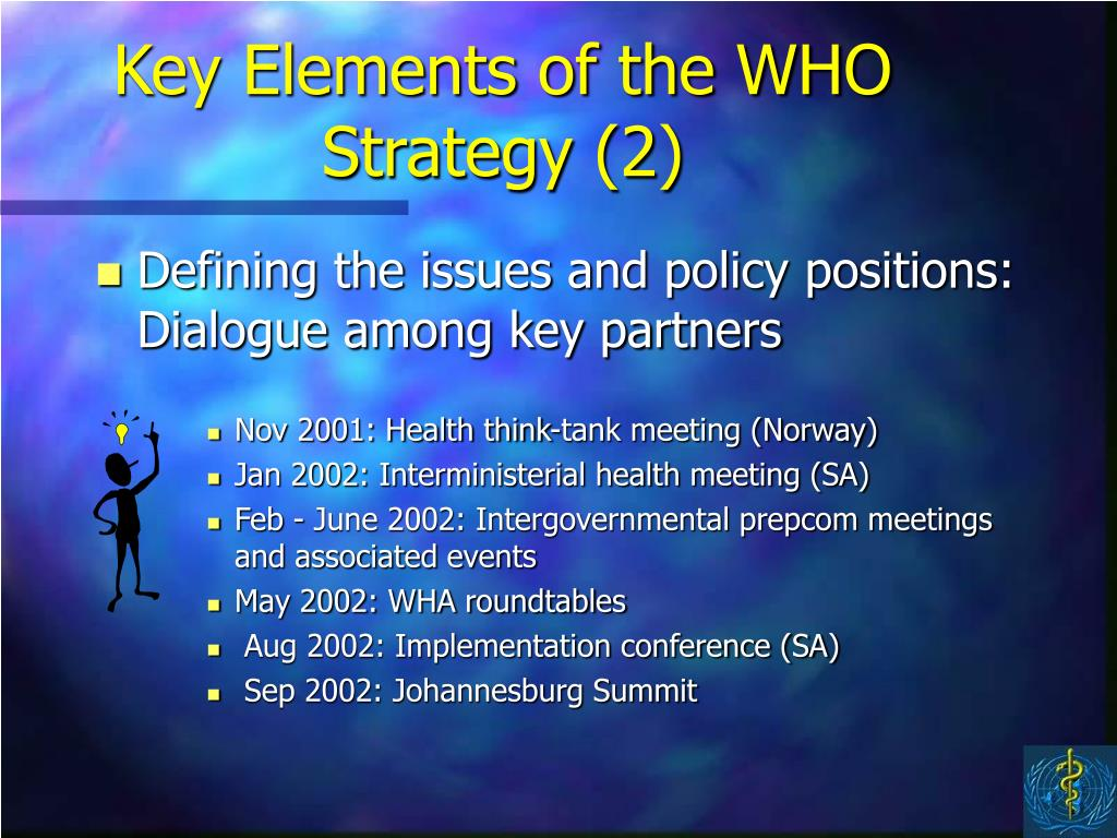 Key Elements of the WHO Strategy (2)