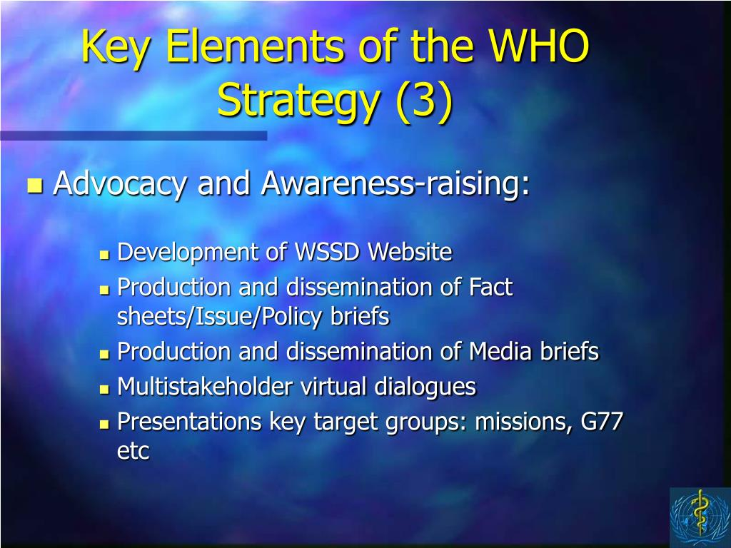 Key Elements of the WHO Strategy (3)
