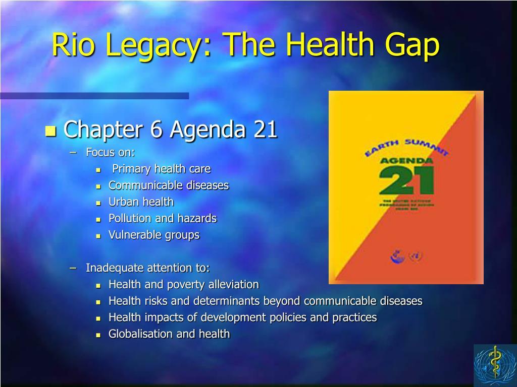 Rio Legacy: The Health Gap