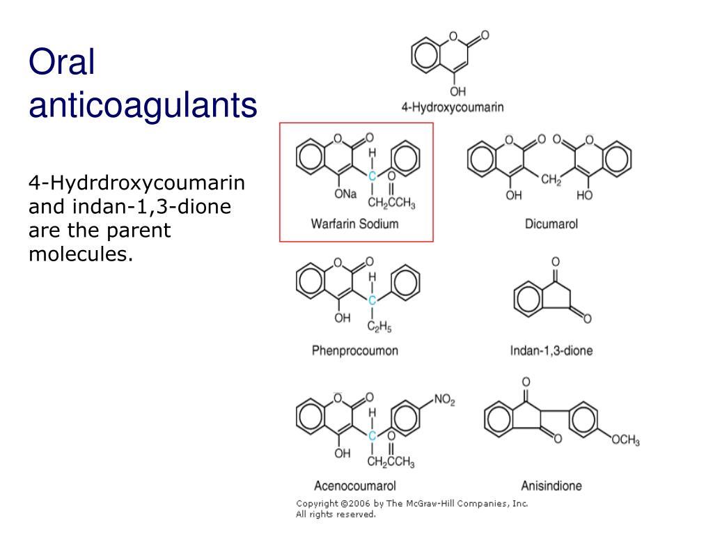 Oral anticoagulants