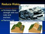 reduce risks23