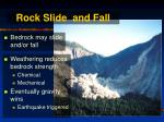 rock slide and fall