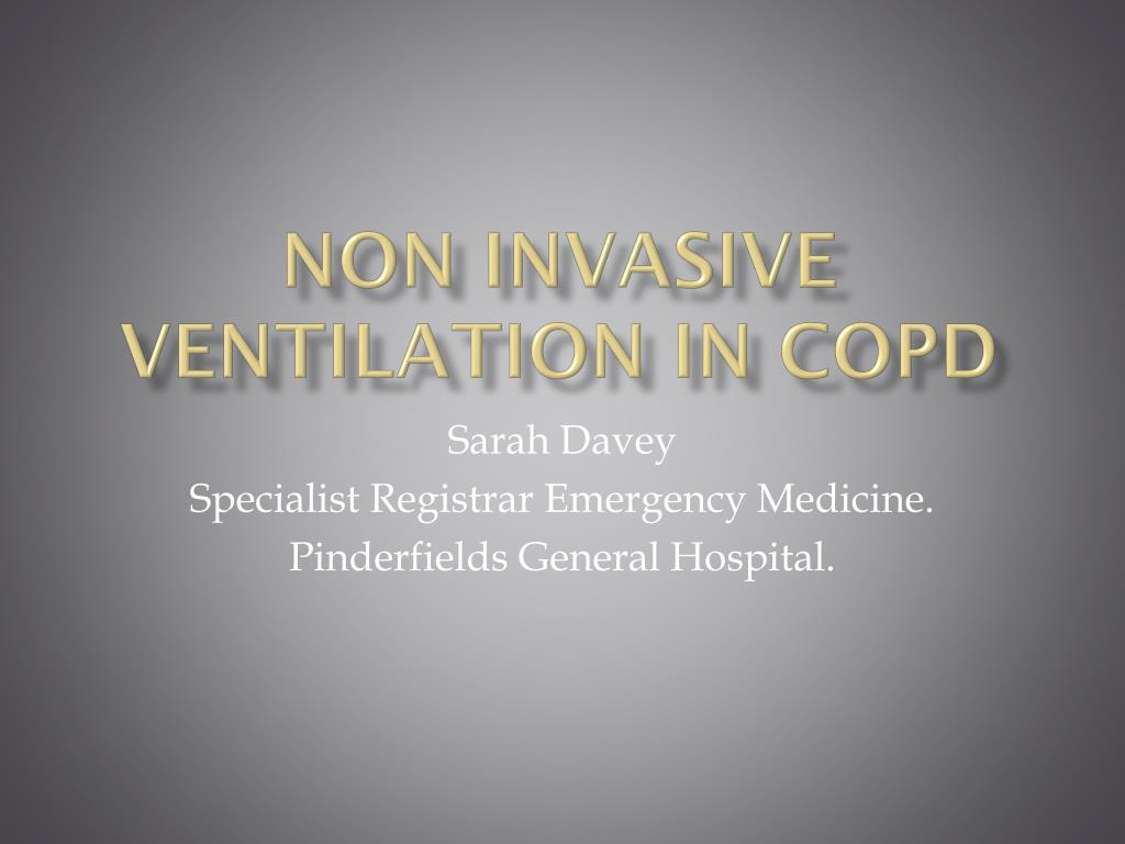 non invasive ventilation in copd l.