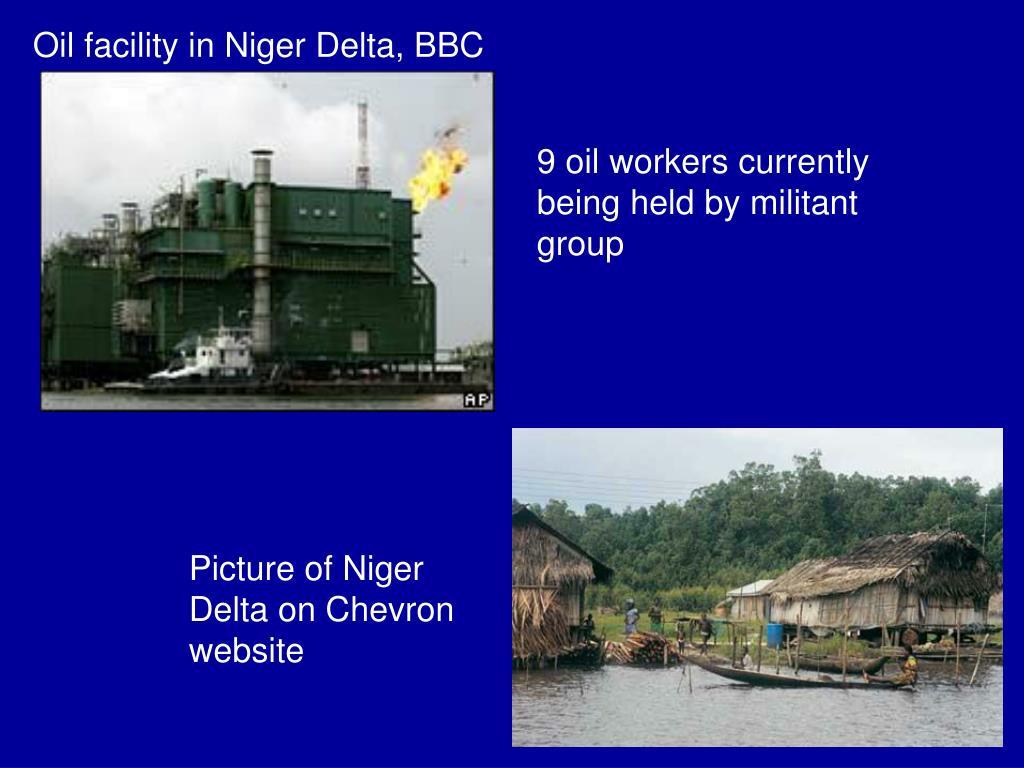 Oil facility in Niger Delta, BBC