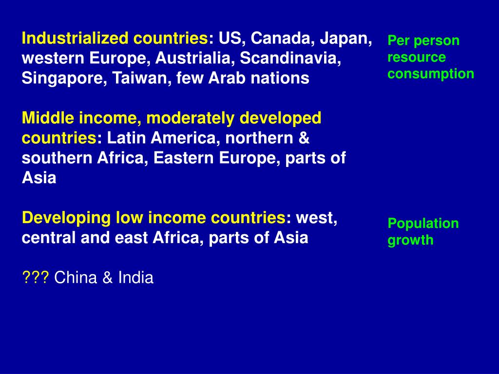 Industrialized countries