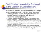 first principle knowledge produced in the context of application 4