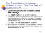 other characteristics of the knowledge production of mode 2 three tiered system of communication 4