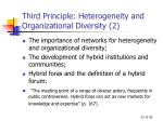 third principle heterogeneity and organizational diversity 2