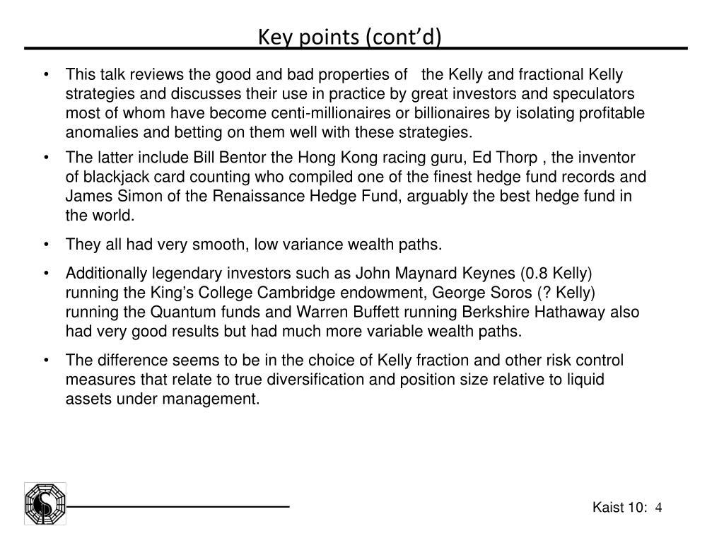 Key points (cont
