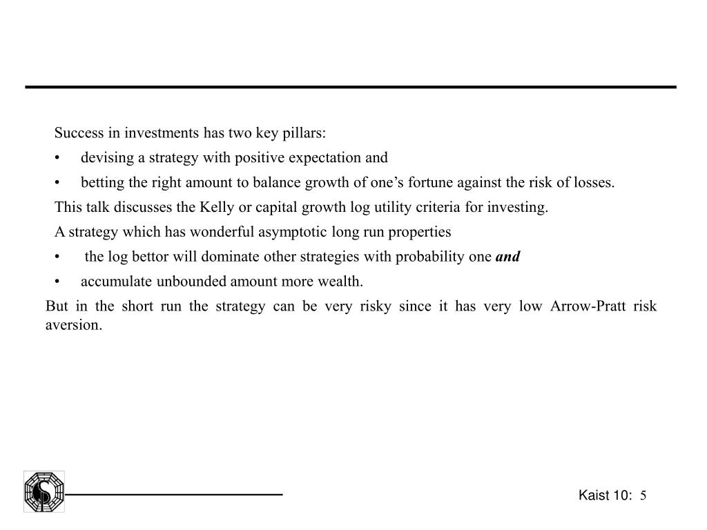 Success in investments has two key pillars: