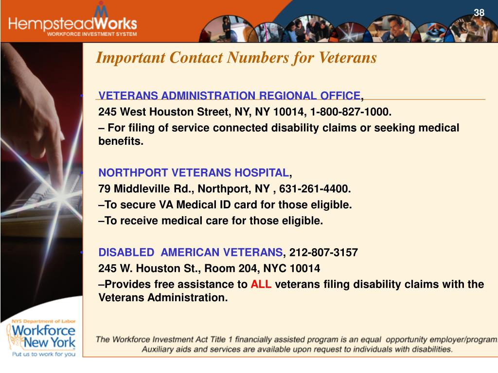 Important Contact Numbers for Veterans