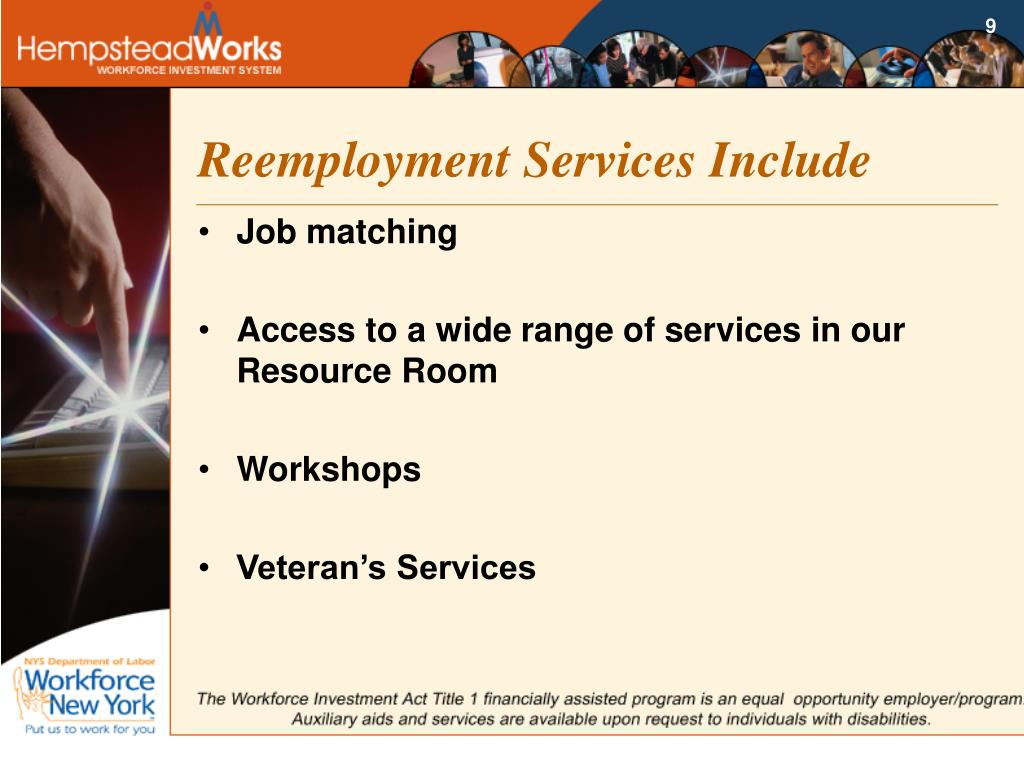 Reemployment Services Include