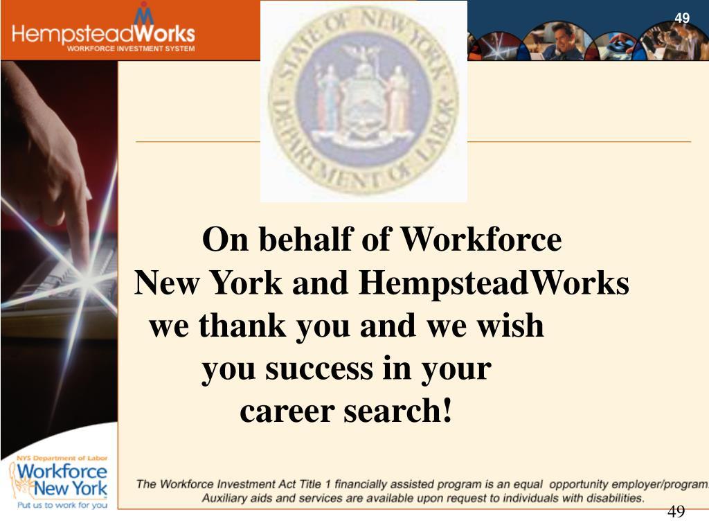 On behalf of Workforce