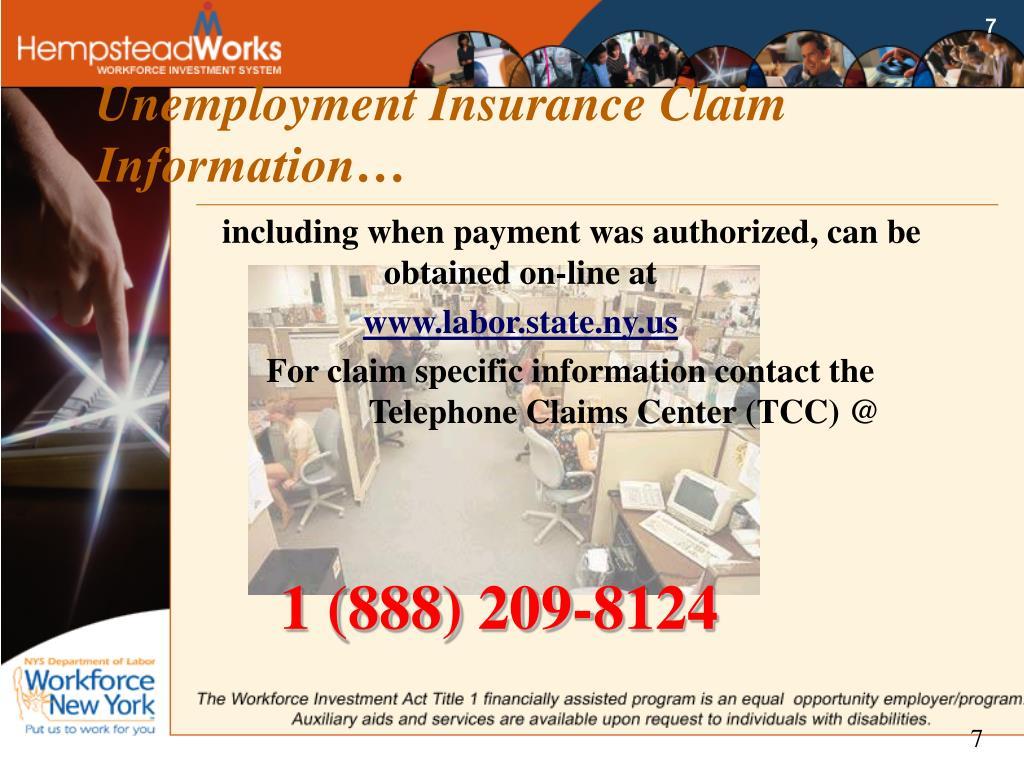 Unemployment Insurance Claim Information…