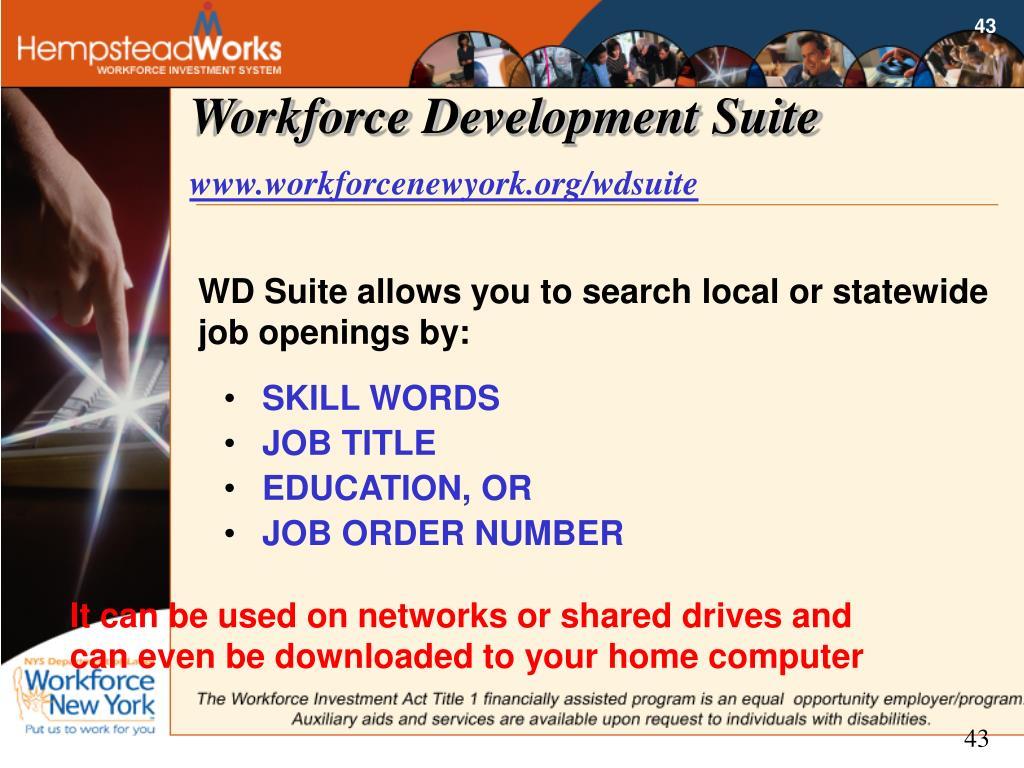 Workforce Development Suite