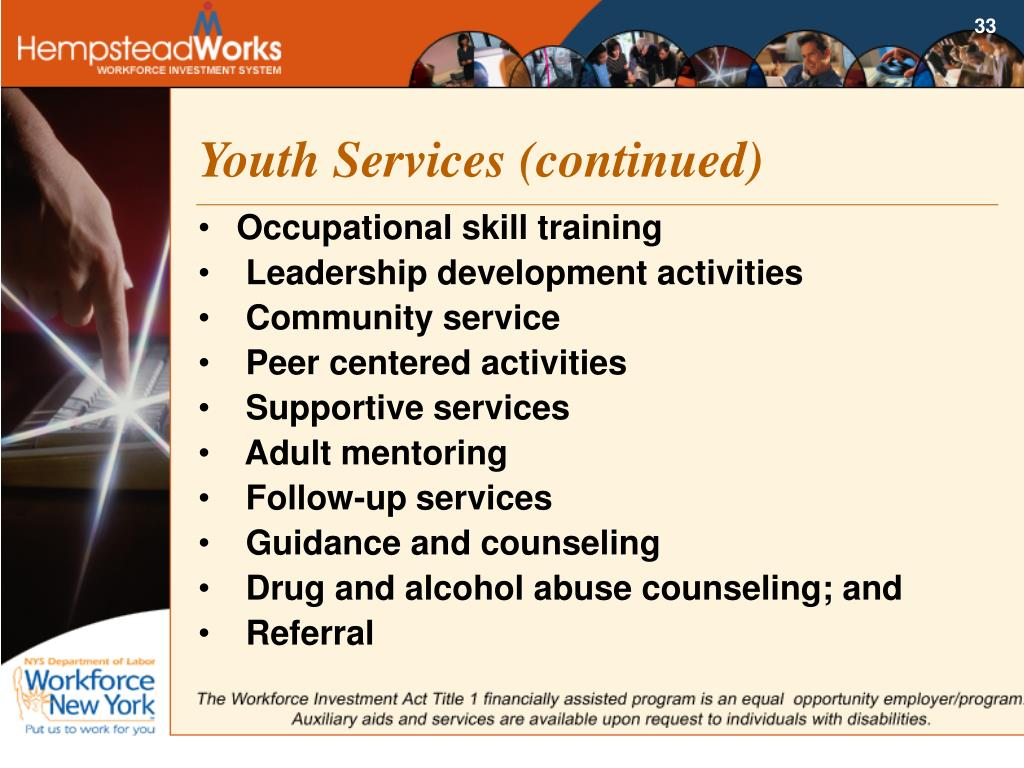 Youth Services (continued)