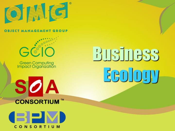 business ecology n.