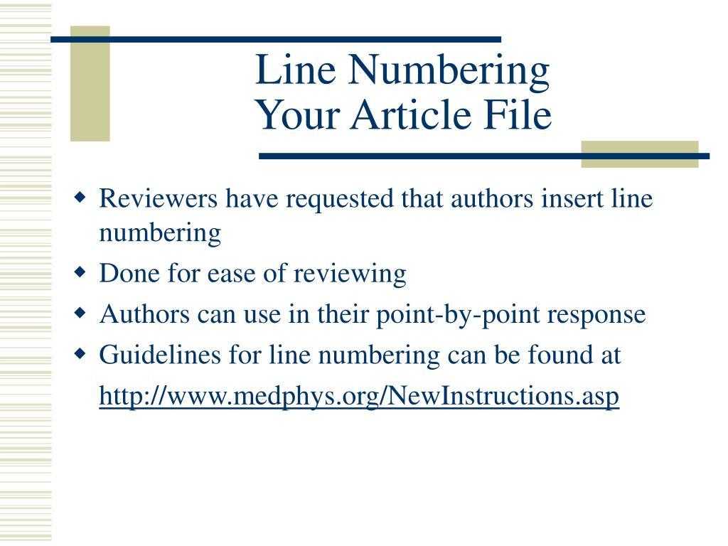 Line Numbering