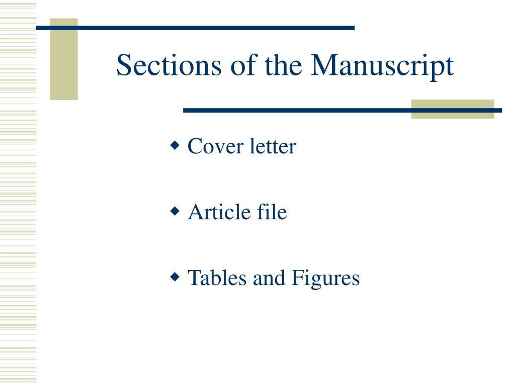 Sections of the Manuscript