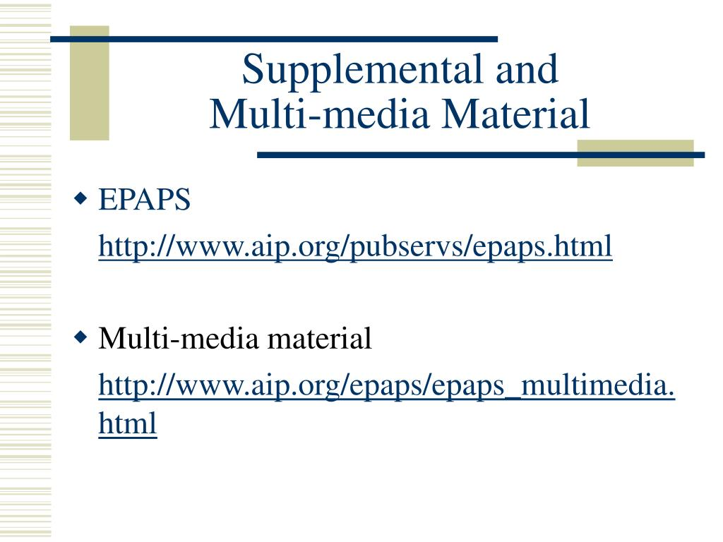 Supplemental and
