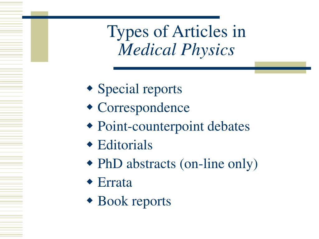 Types of Articles in